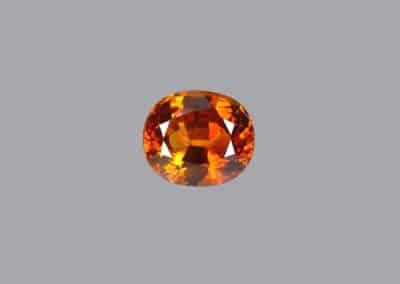 Saphir orange 5 ct-